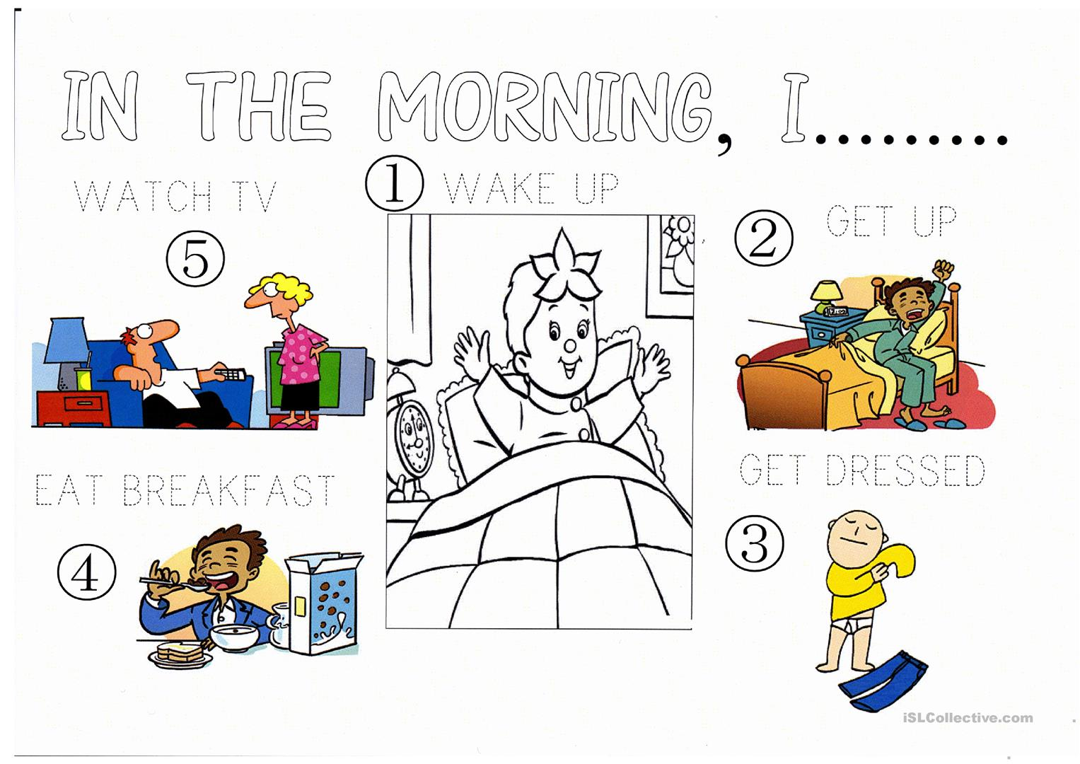 Morning Routine Worksheet