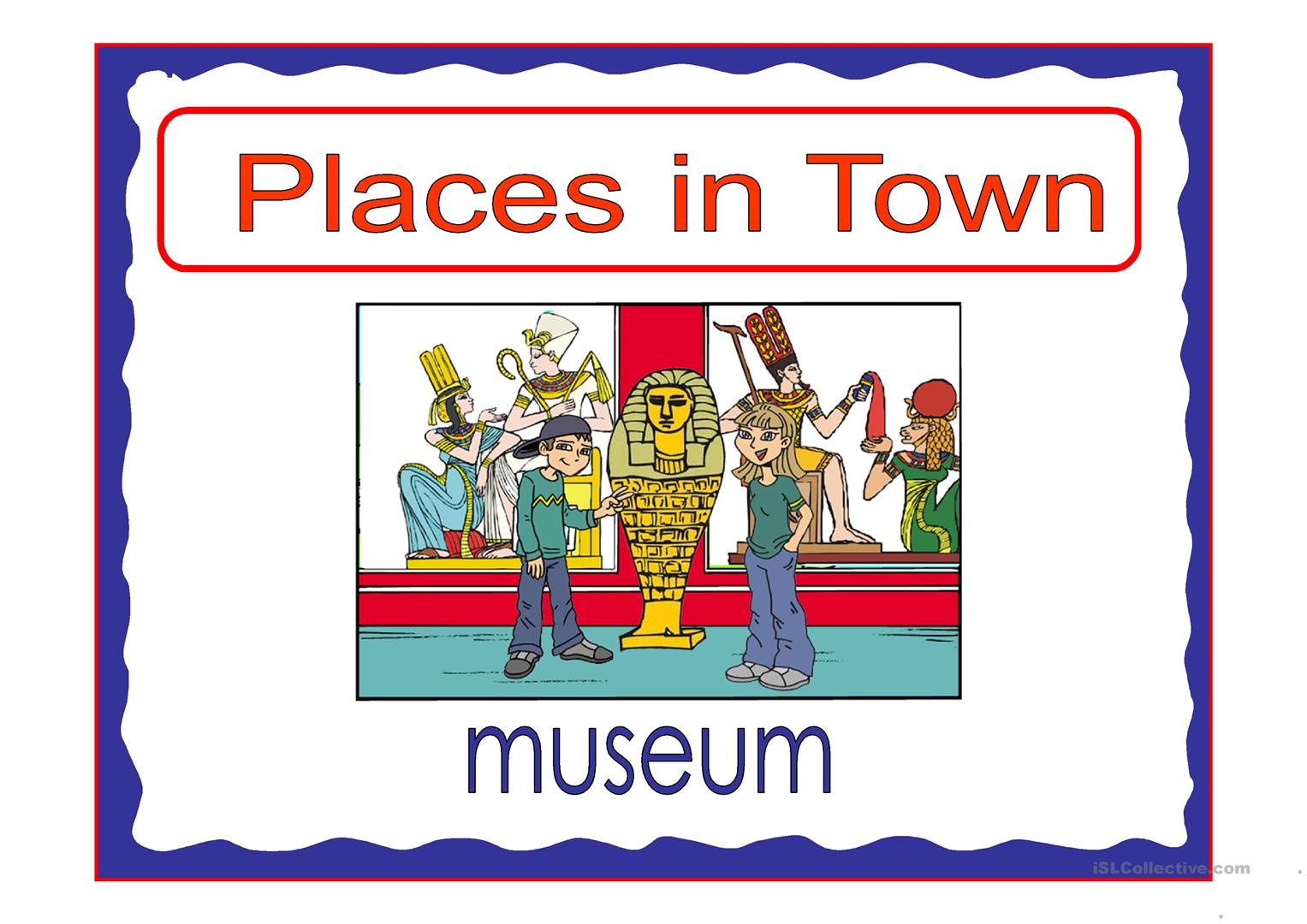 Places In Town 4 Worksheet
