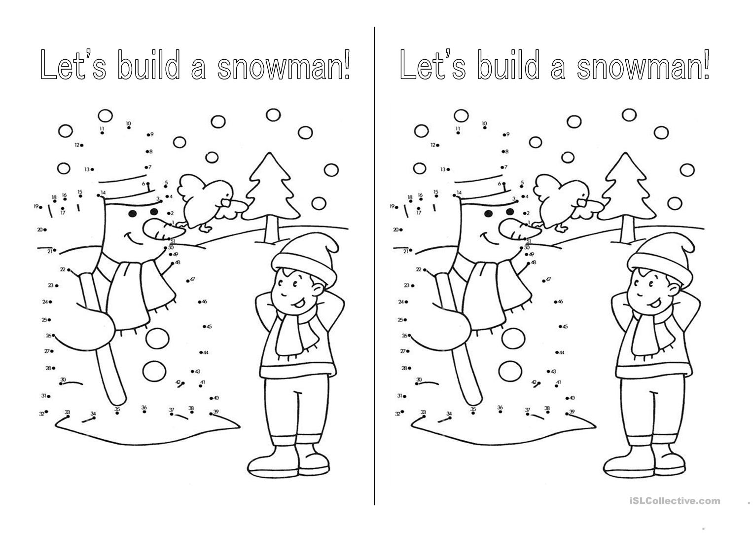 Esl Winter Worksheet