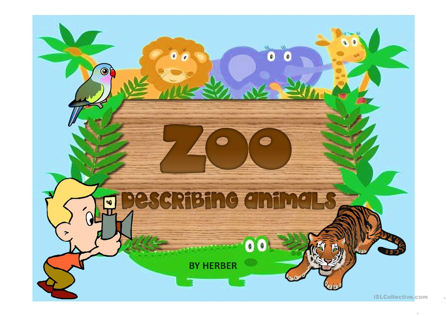 Zoo Ppt Worksheet
