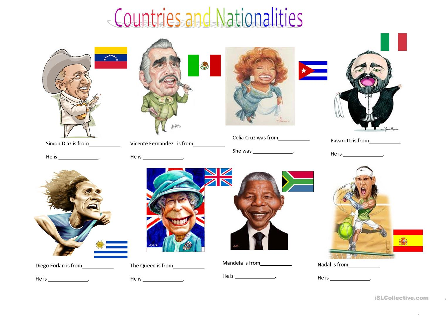 Countries And Nationalities Ii Worksheet