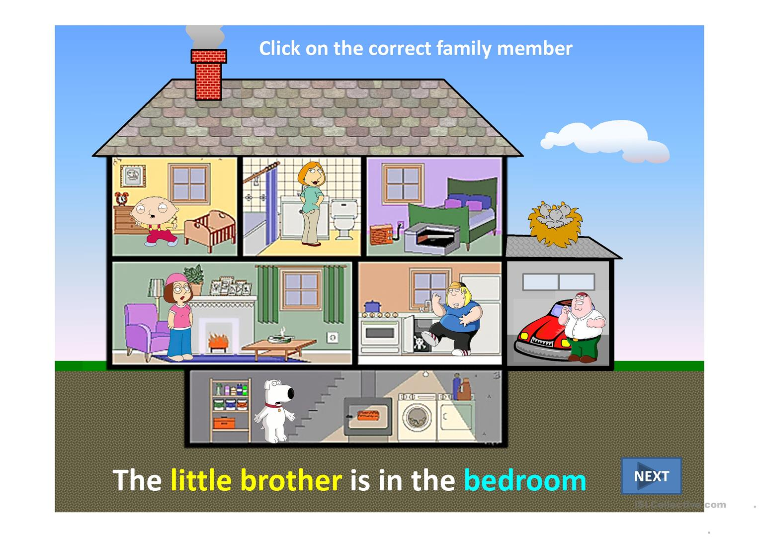 Family At Home Ppt Worksheet
