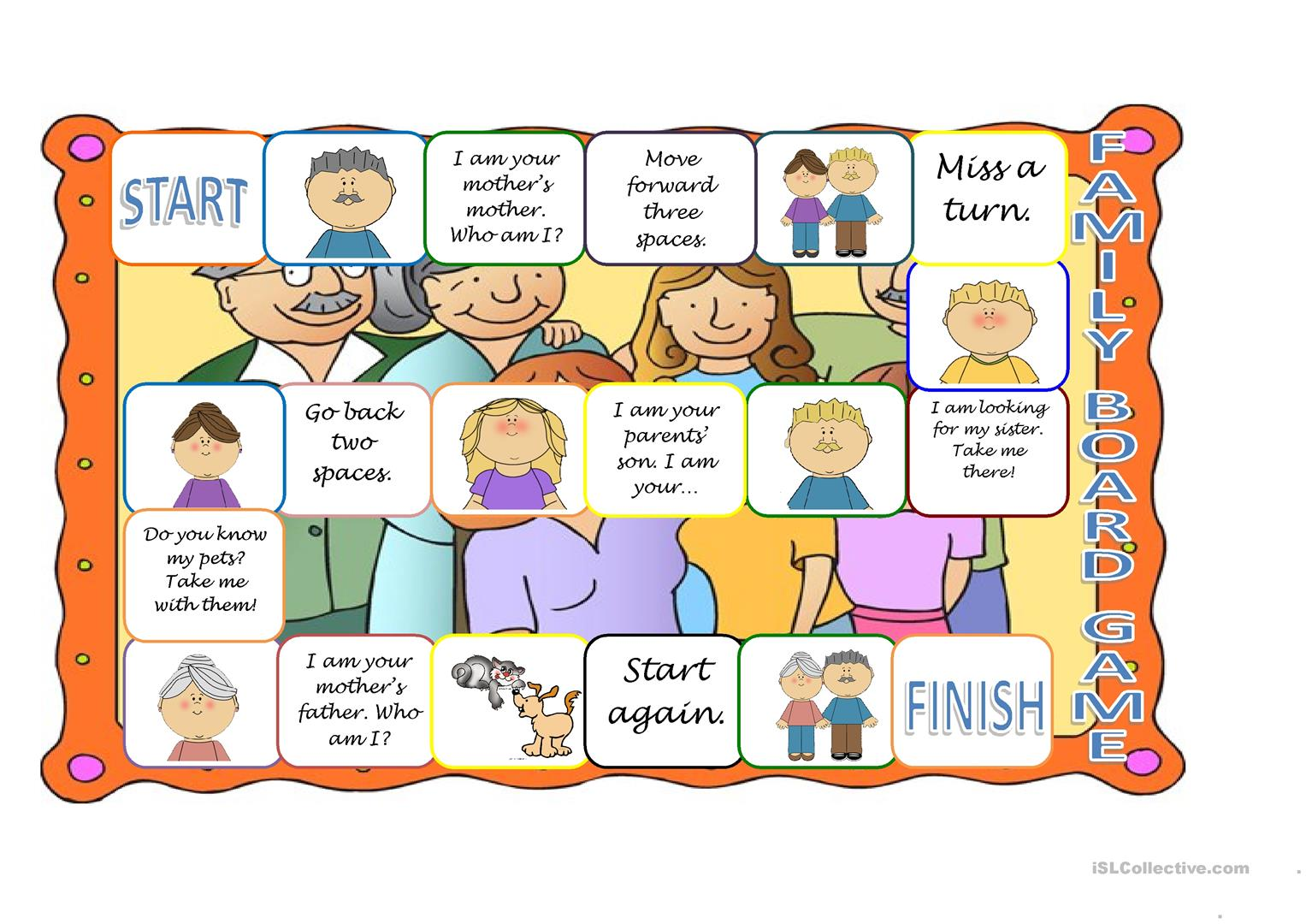 4 Worksheet Family Members For Kindergarten