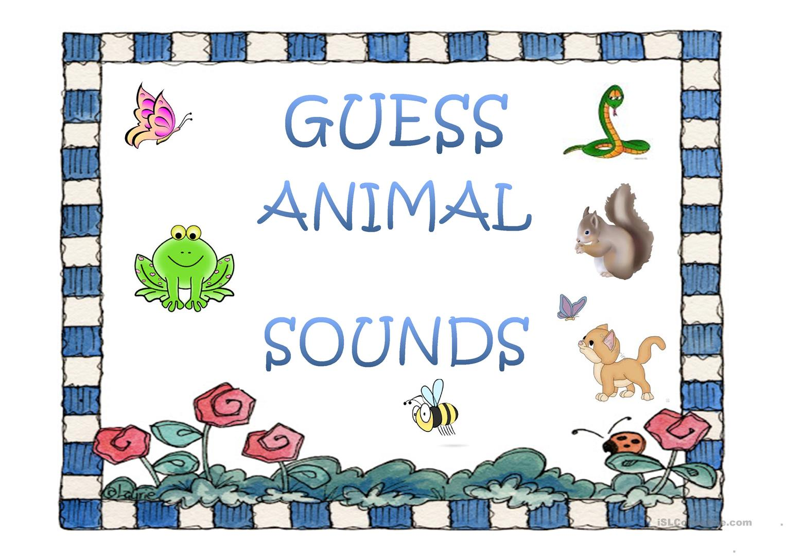 Guess Animal Sounds 1