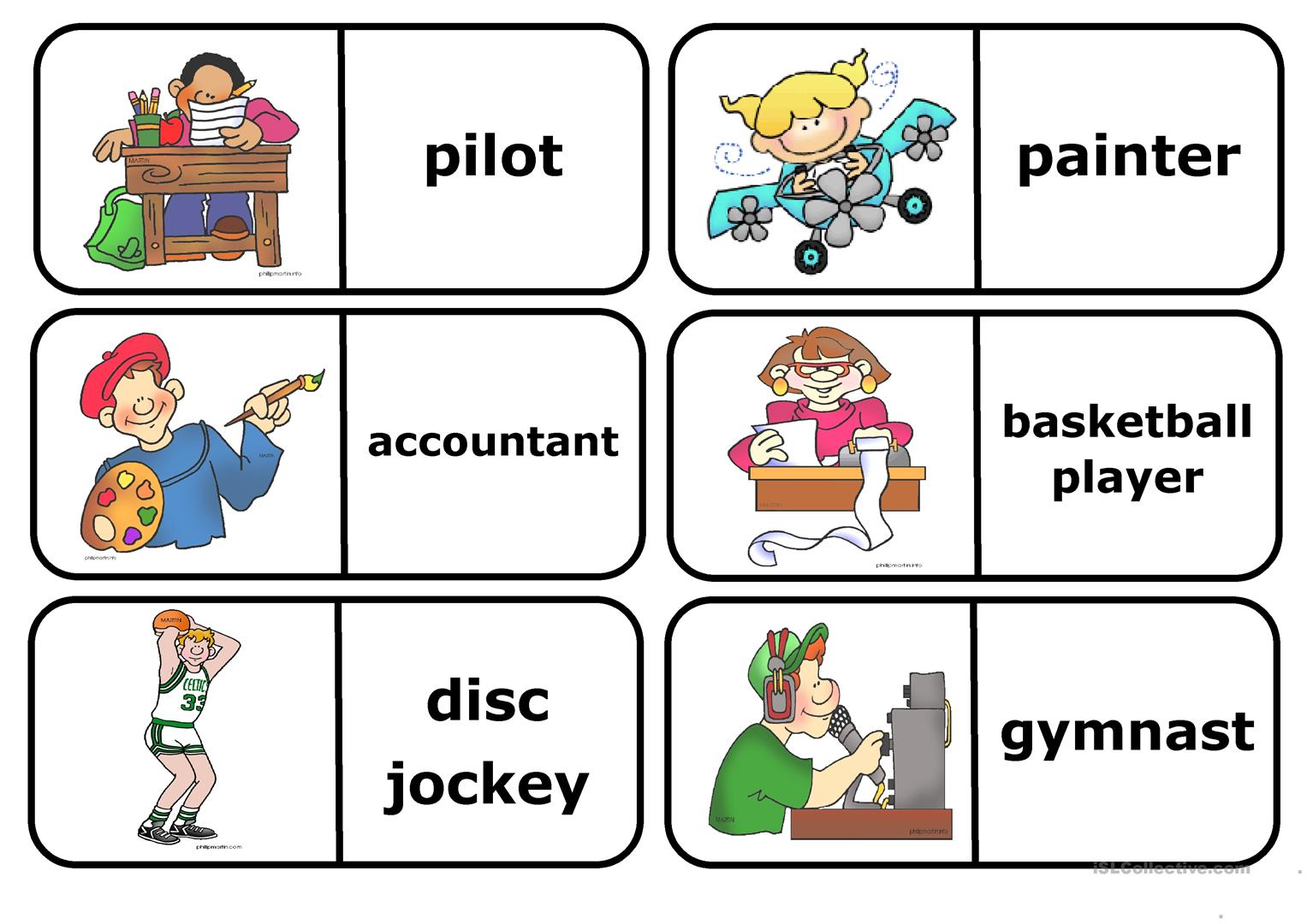 Occupations Esol Worksheet