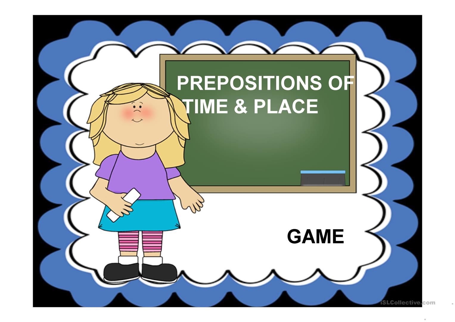 Prepositions Of Time And Place