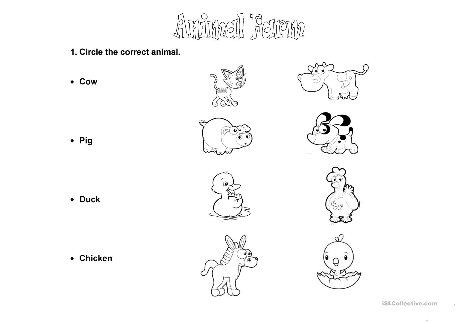 Animal Farm Worksheet