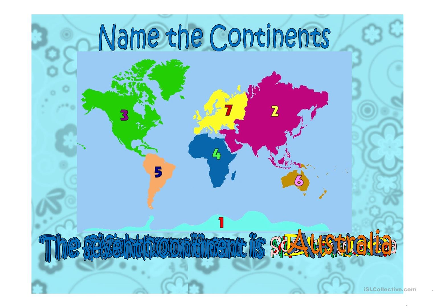 Continents Countries Nationalities Exercise Worksheet