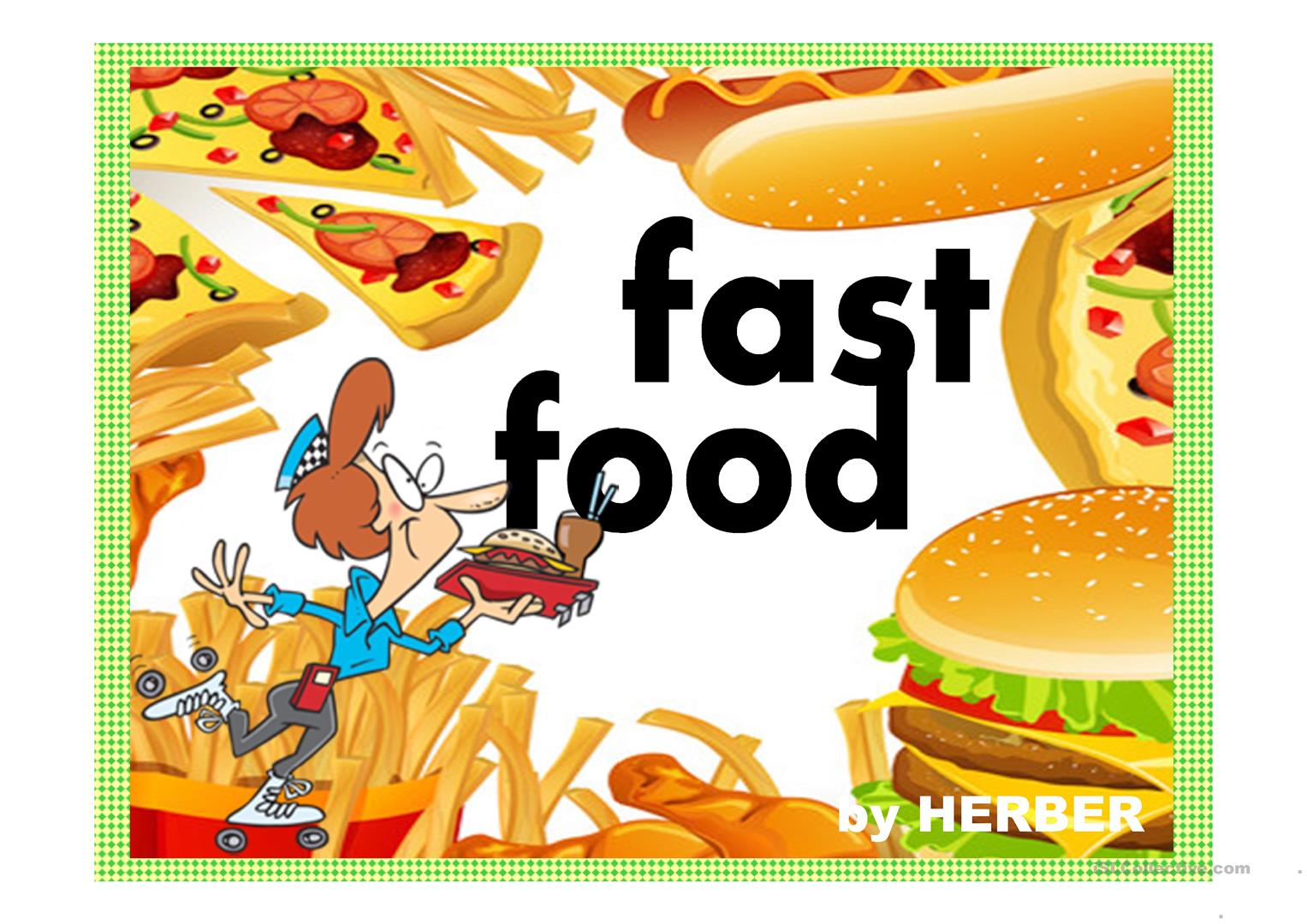 Fast Food Ppt Worksheet