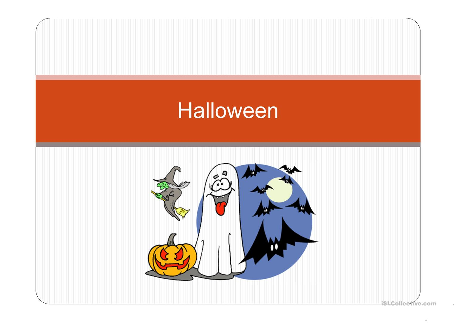 Halloween Presentation Worksheet