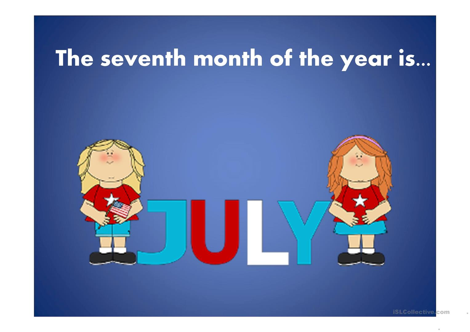 Months Of The Year Worksheet