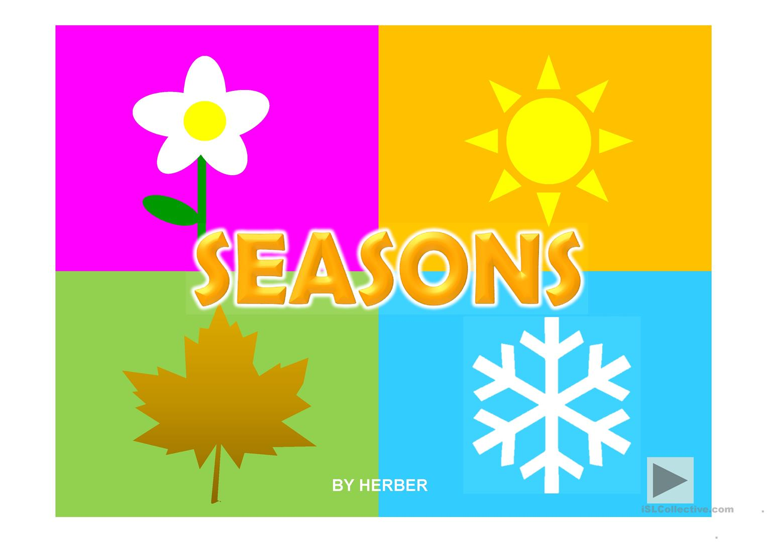 Islcollective Worksheet Seasons