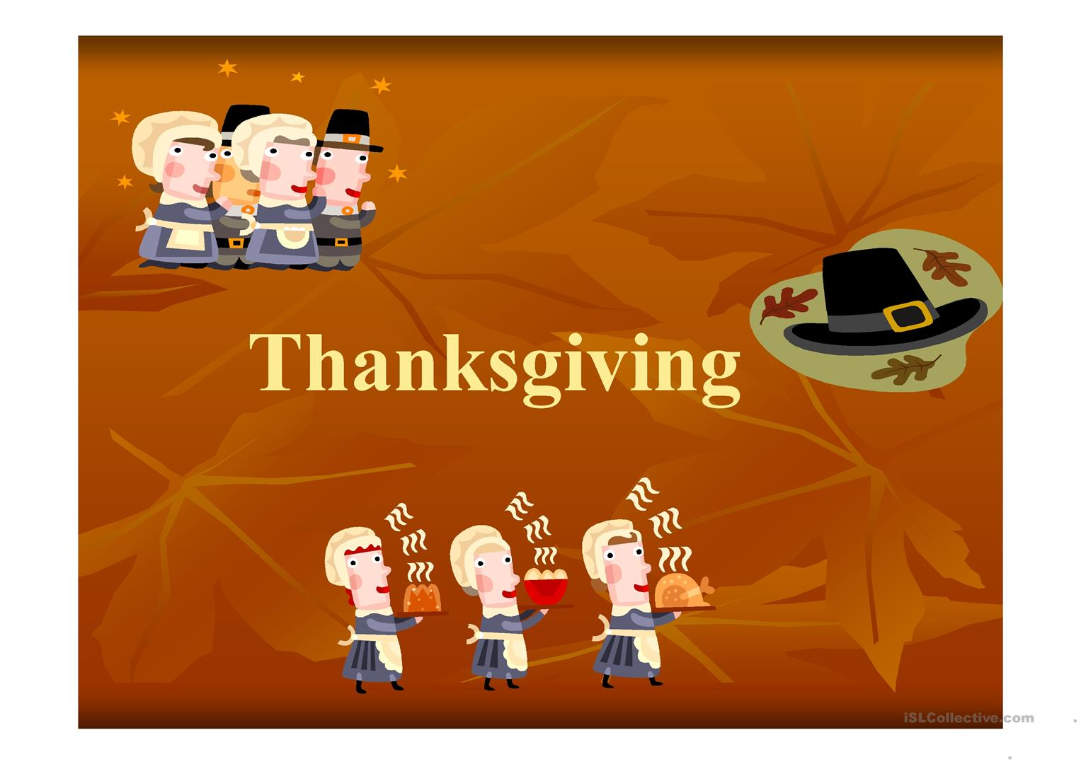 Thanksgiving Powerpoint Worksheet