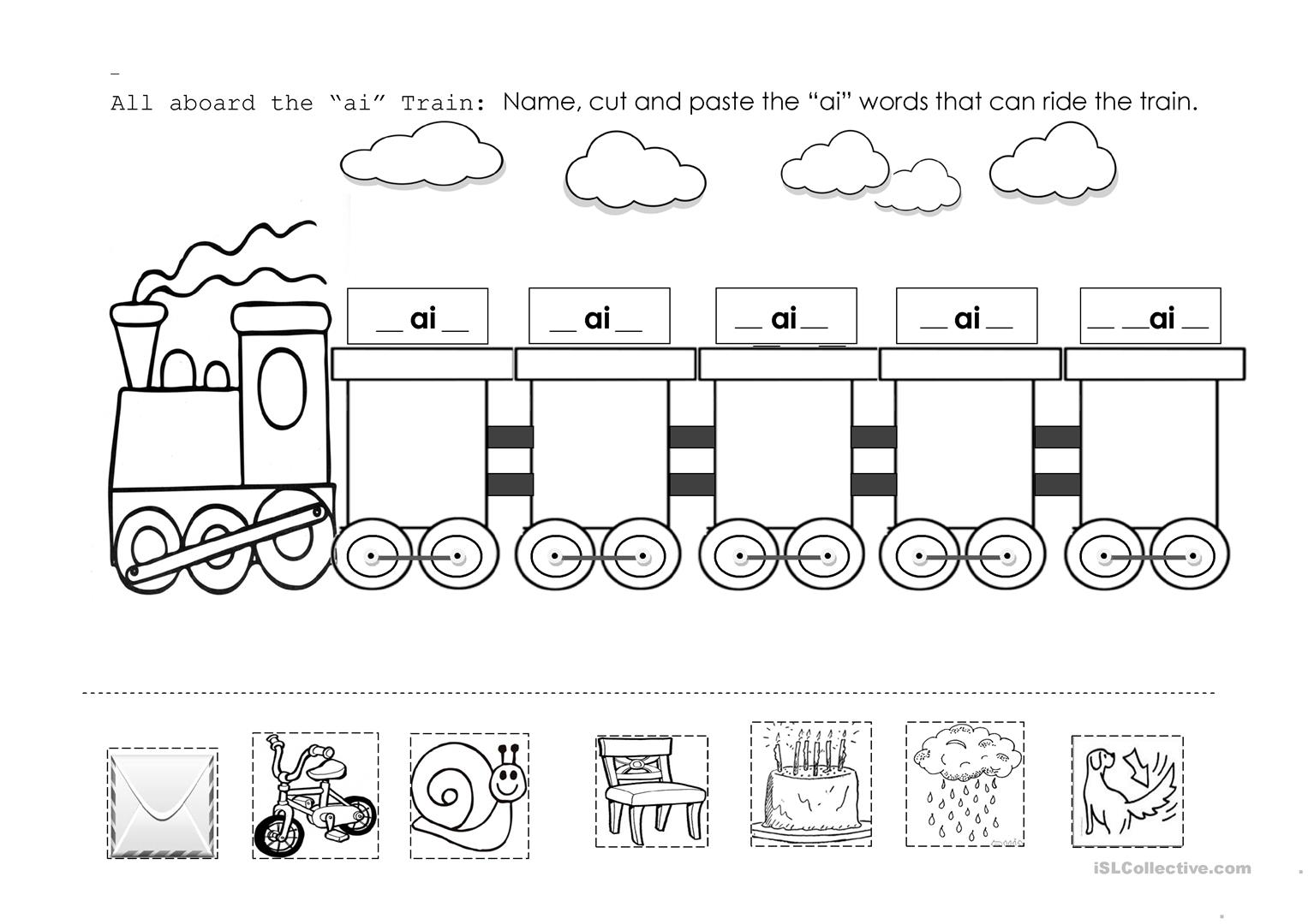 Fun Train Number Worksheet