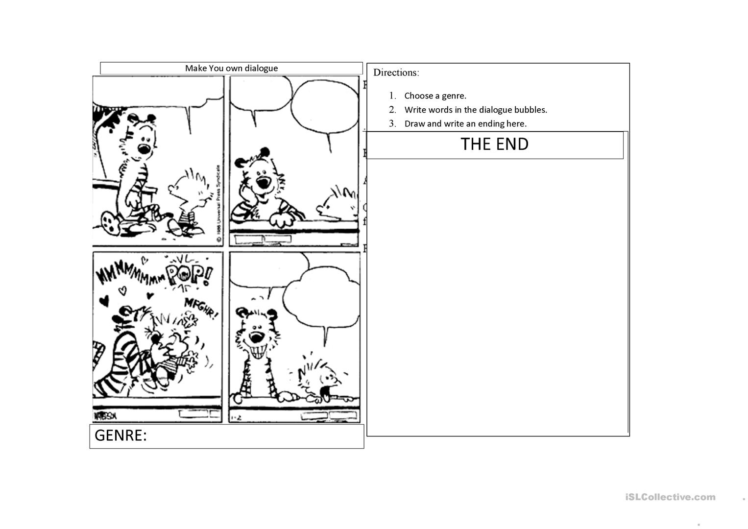 Create Your Own Ending Worksheet