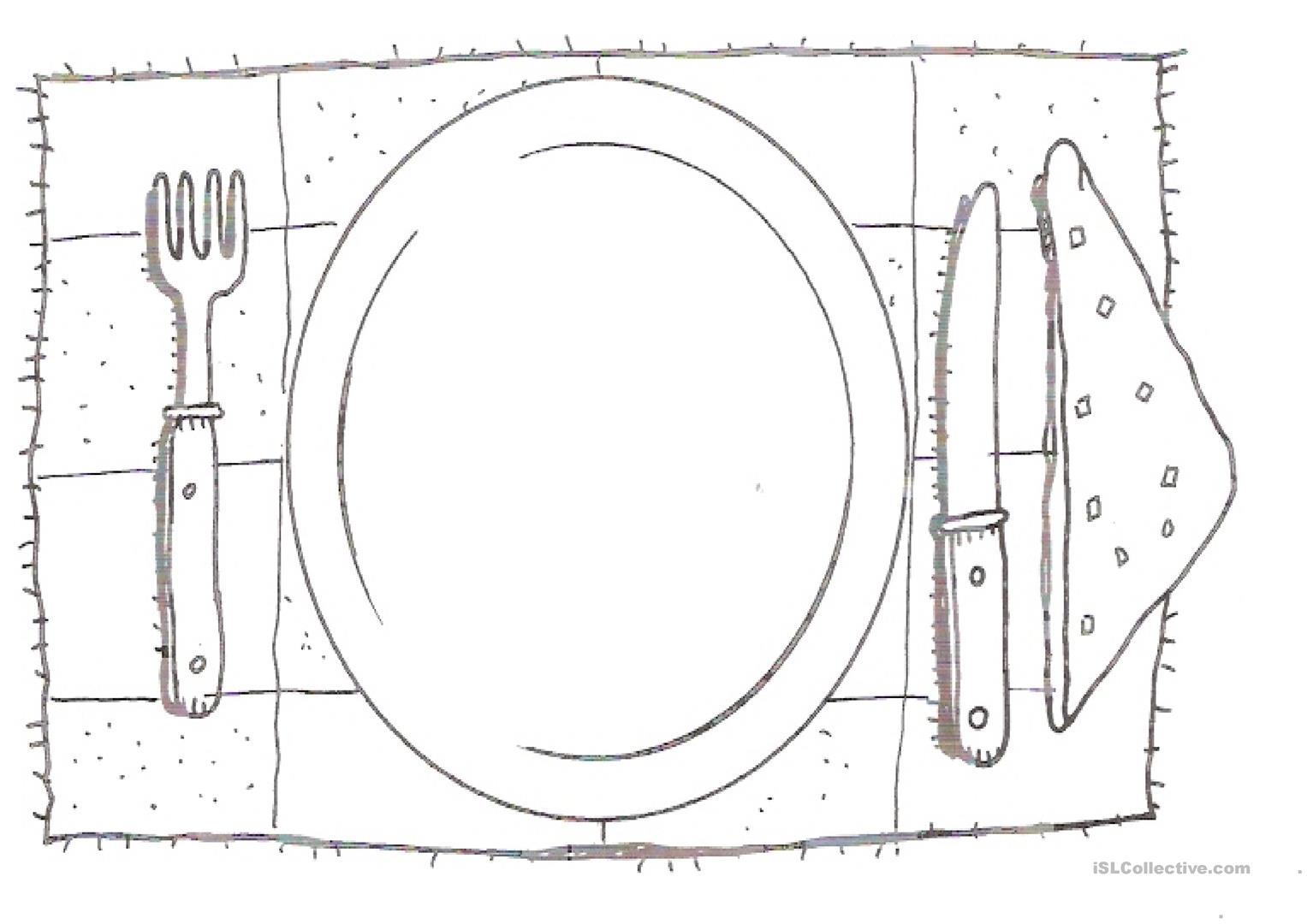 Draw Your Favourite Food Worksheet
