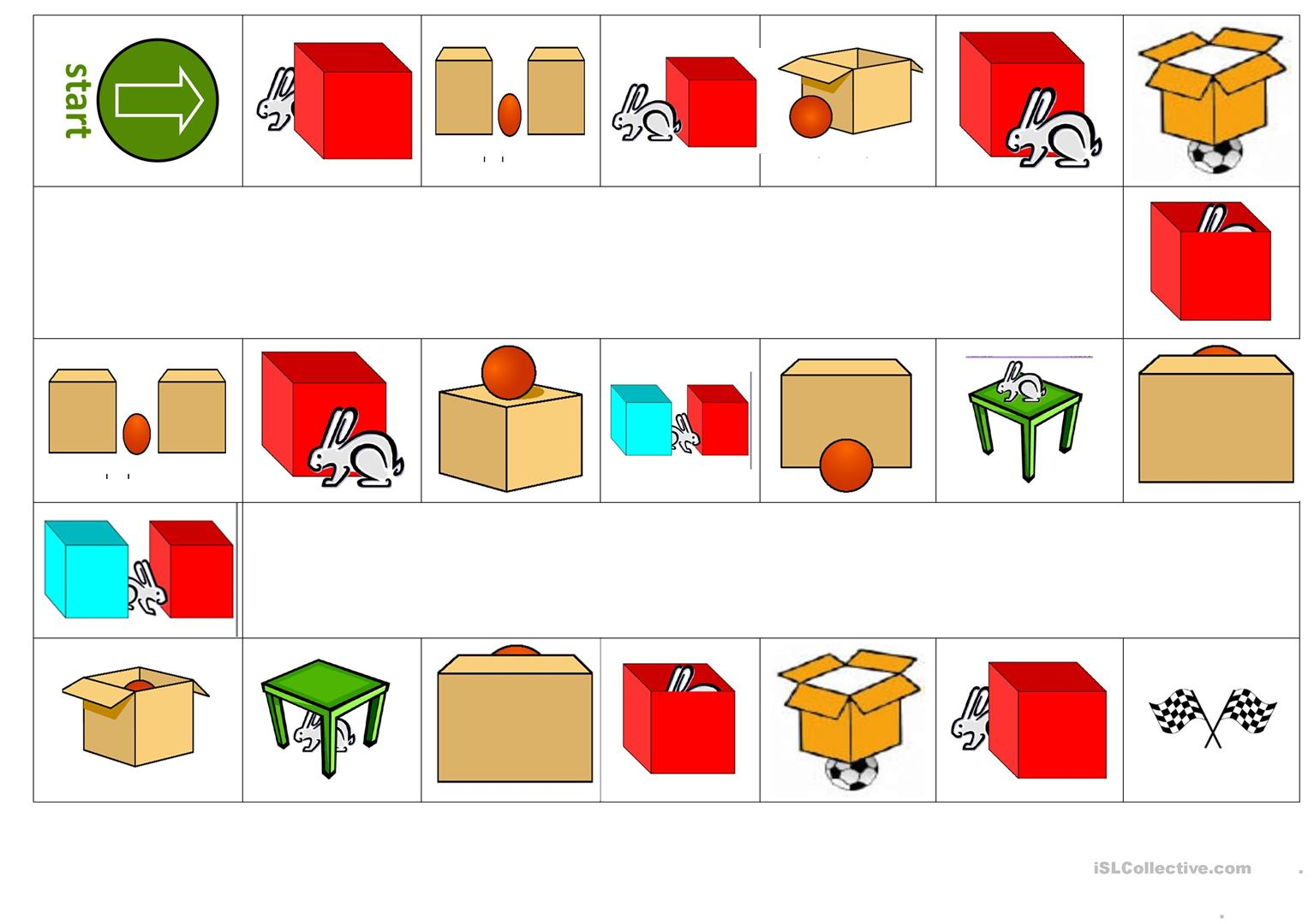 Prepositions Of Place Worksheet