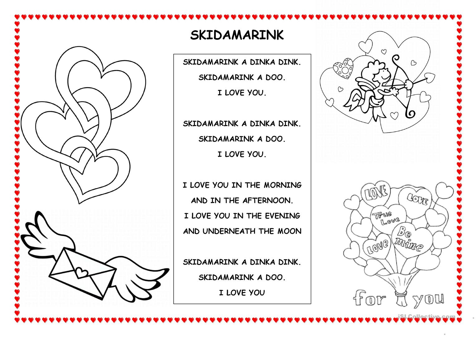 Valentine Worksheet Esl