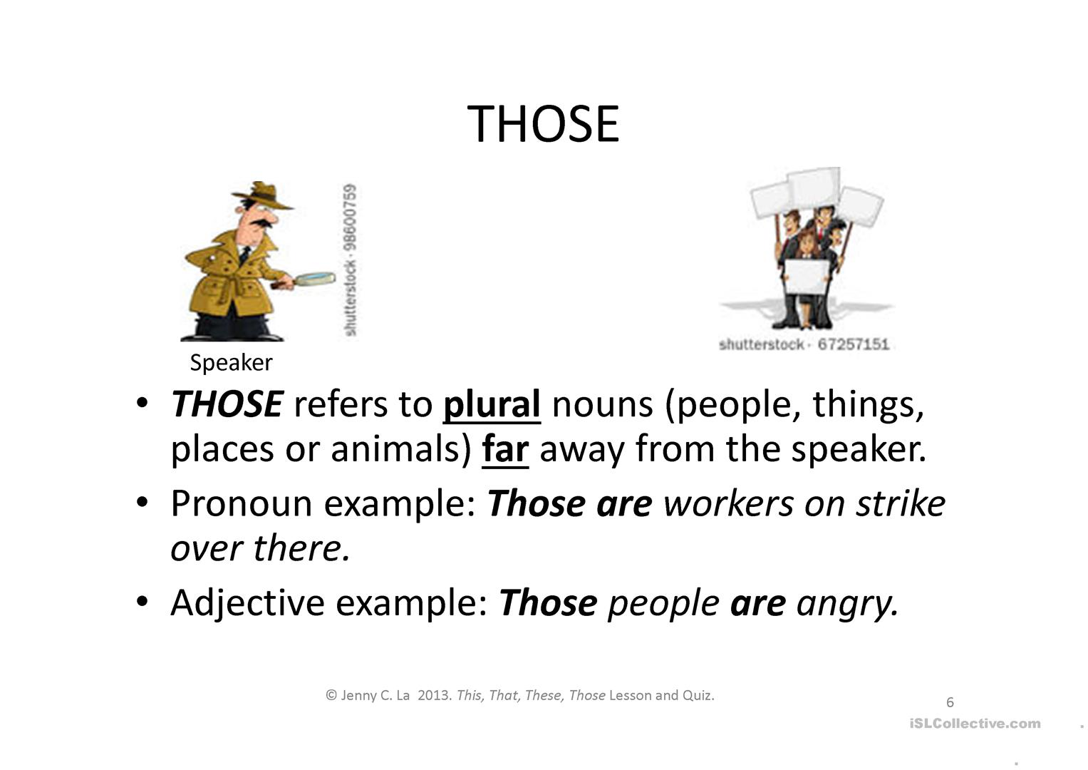 Worksheet This That These Those