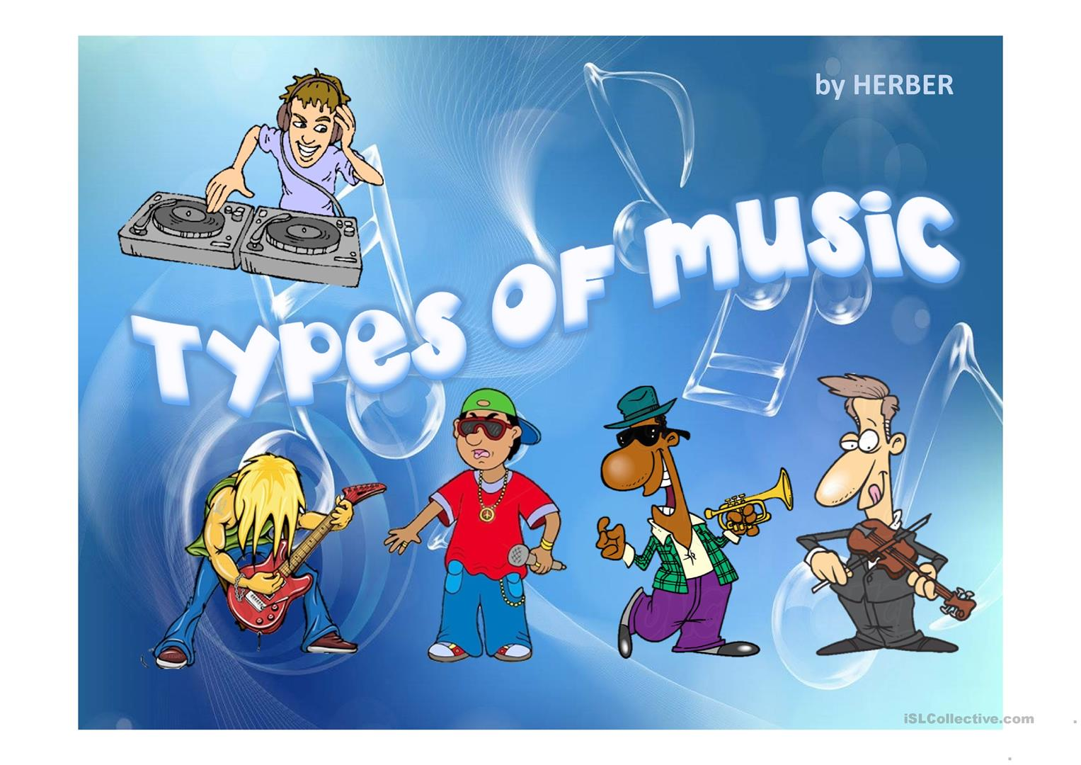 Types Of Music Ppt Worksheet