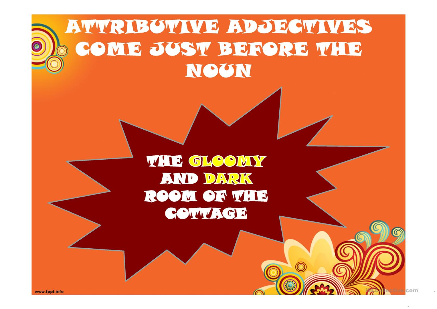 Adjectives Predicate And Attributive Adjectives Worksheet