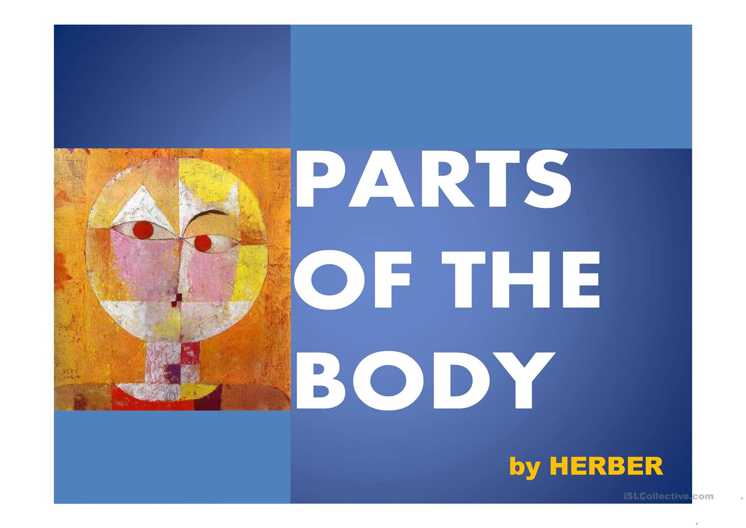 Body Parts Ppt Worksheet
