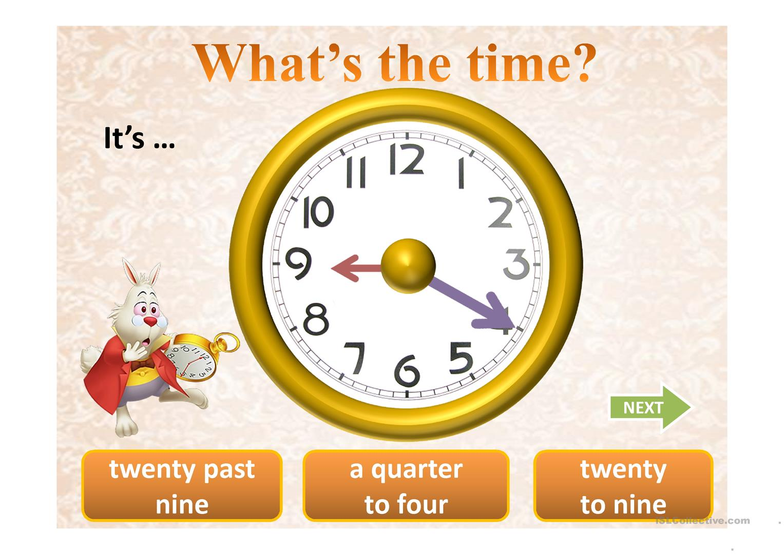 What S The Time Ppt
