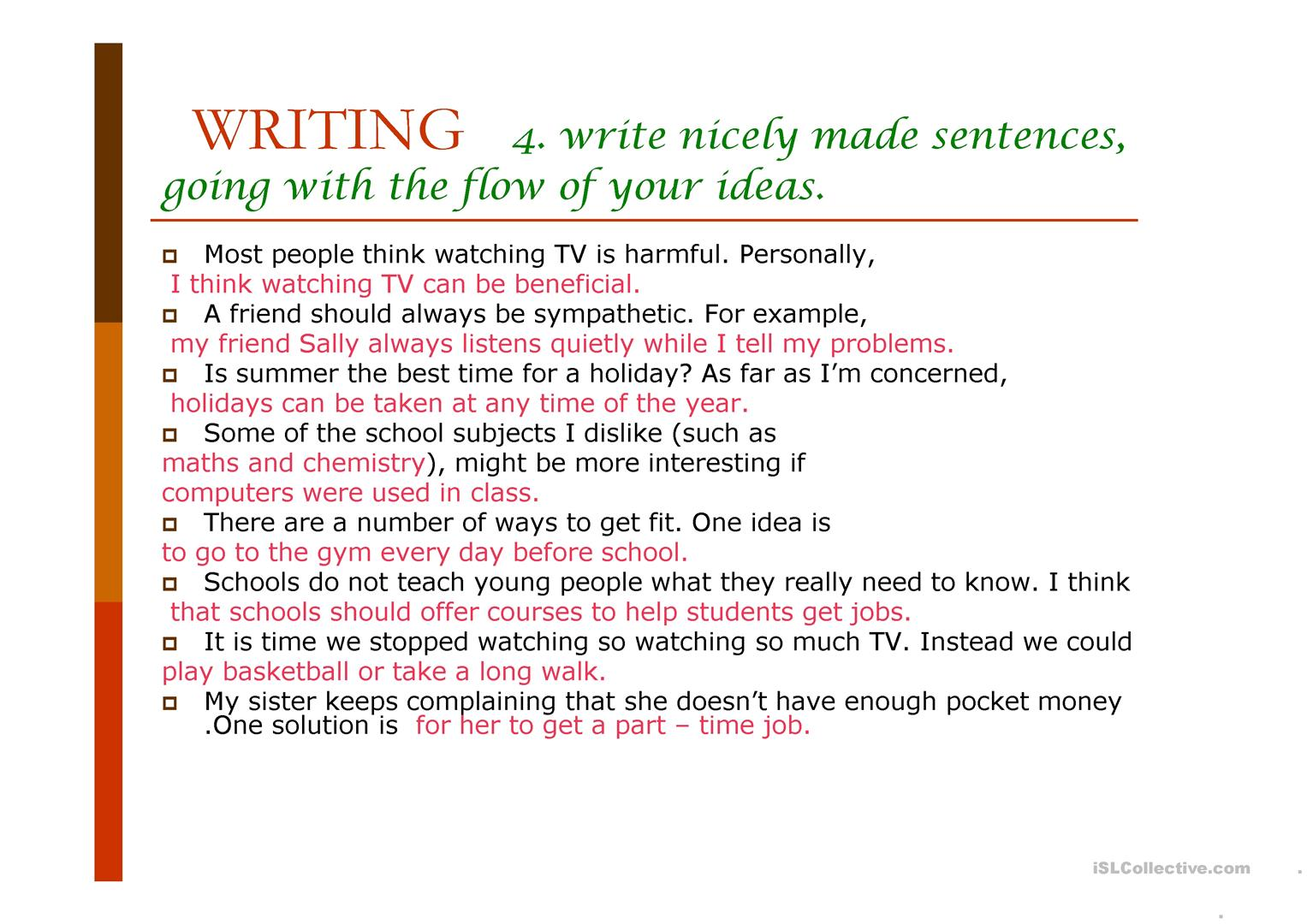 Writing A Composition Steps Worksheet