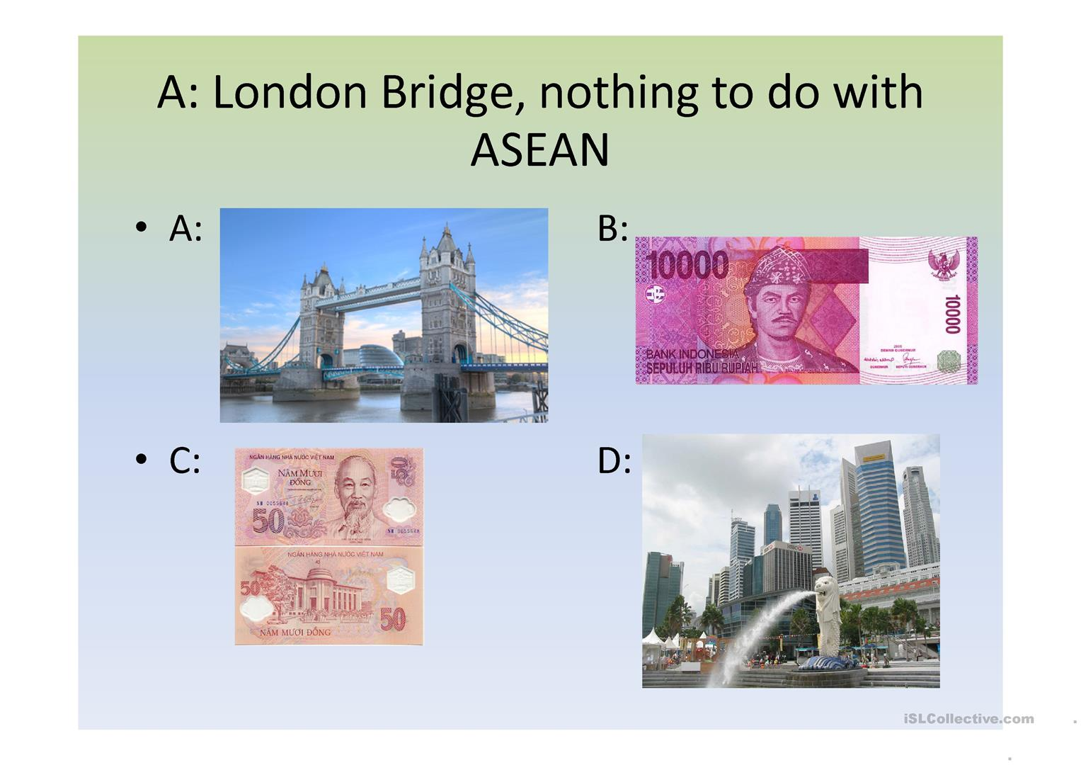 Asean Odd One Out Worksheet