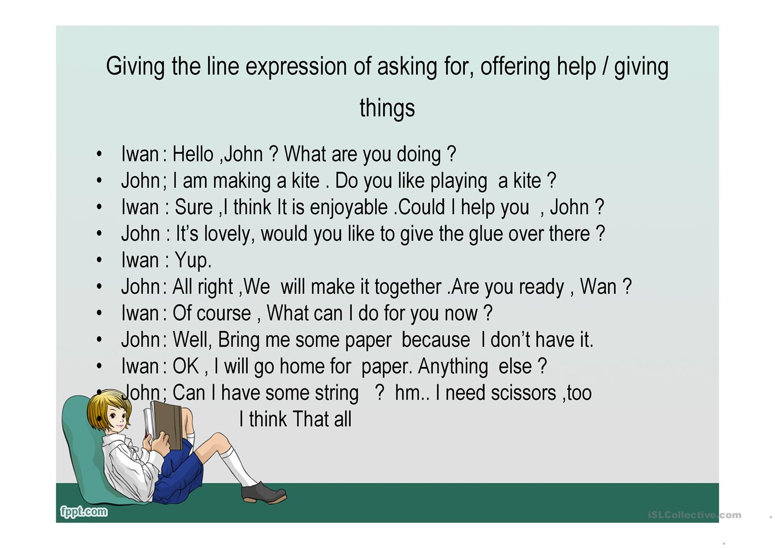 Expression Of Asking For Offering Giving Worksheet