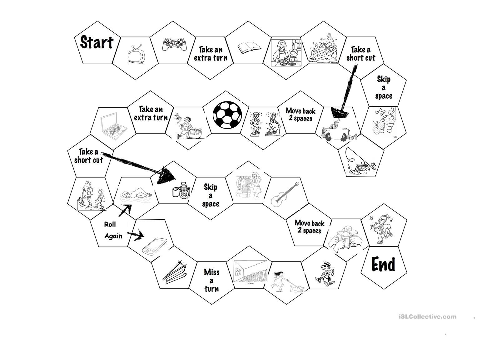 Hobbies Boardgame Worksheet