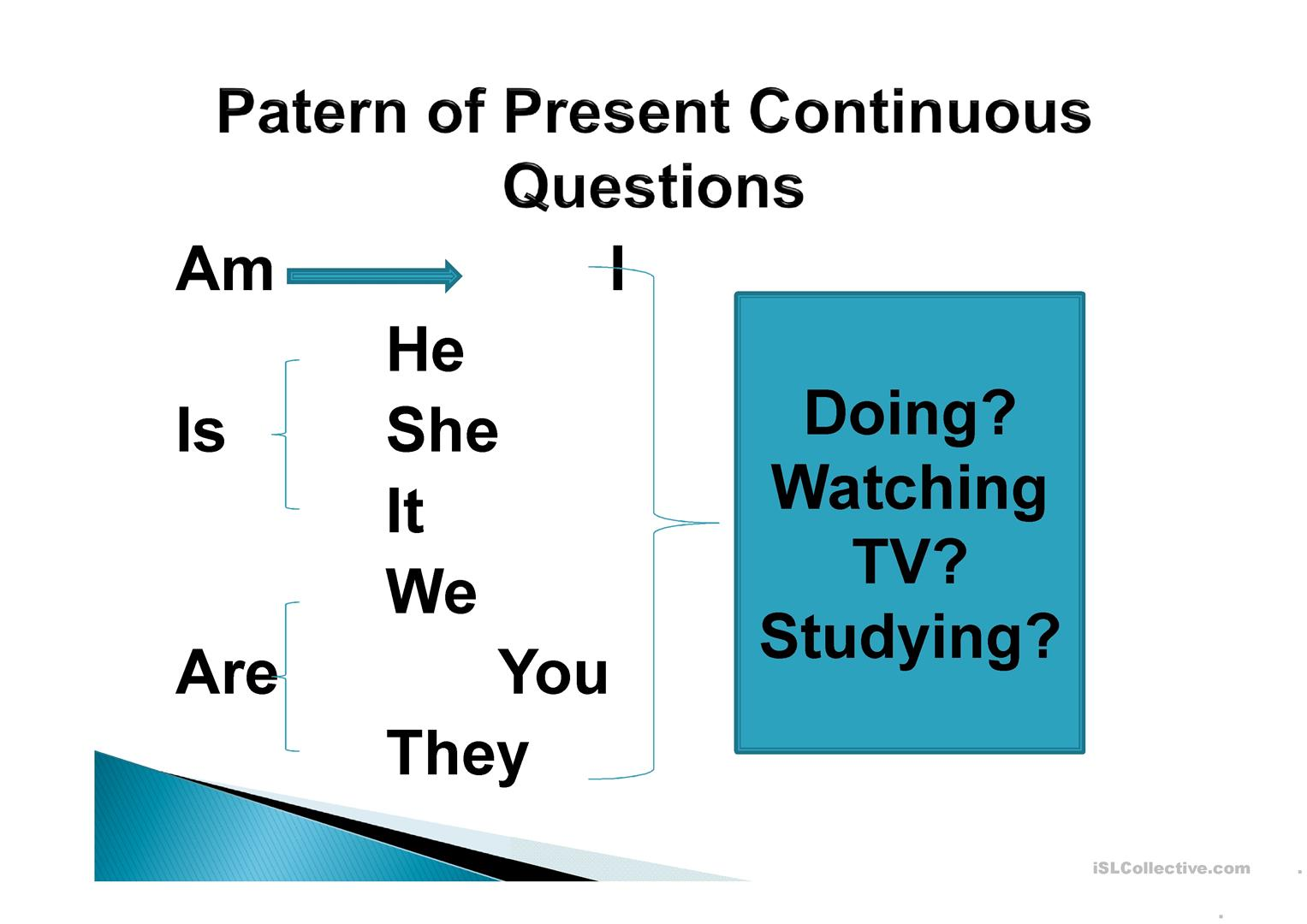 Present Continuous Question Amp Present Simple Worksheet