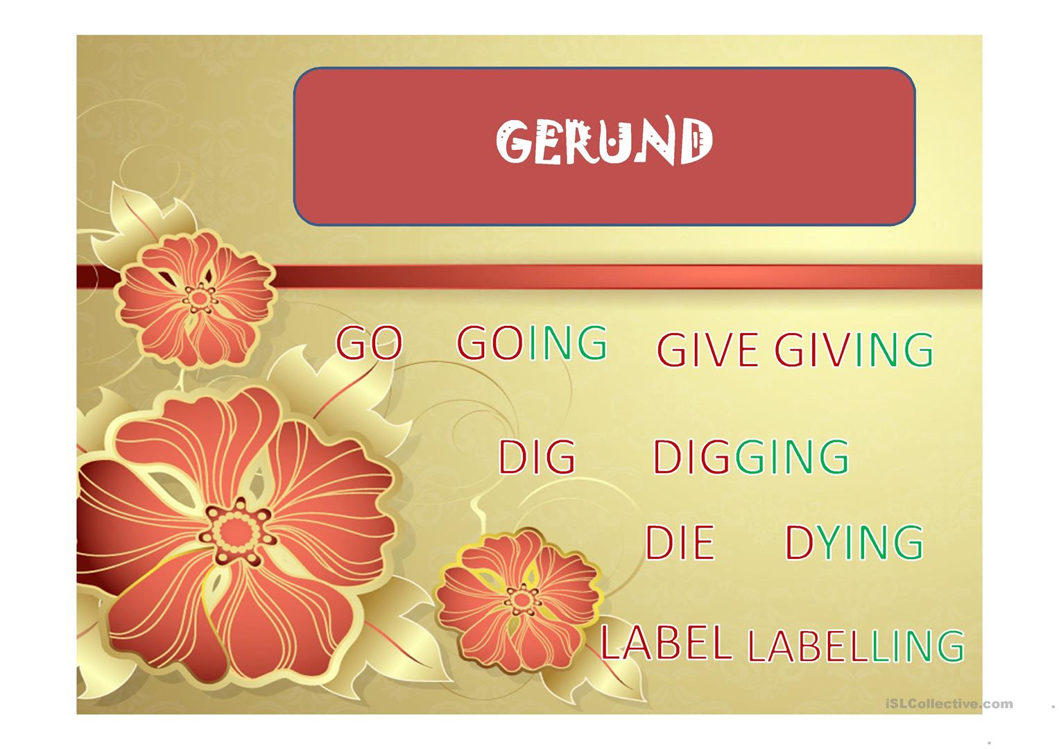 Gerund Worksheet Doc