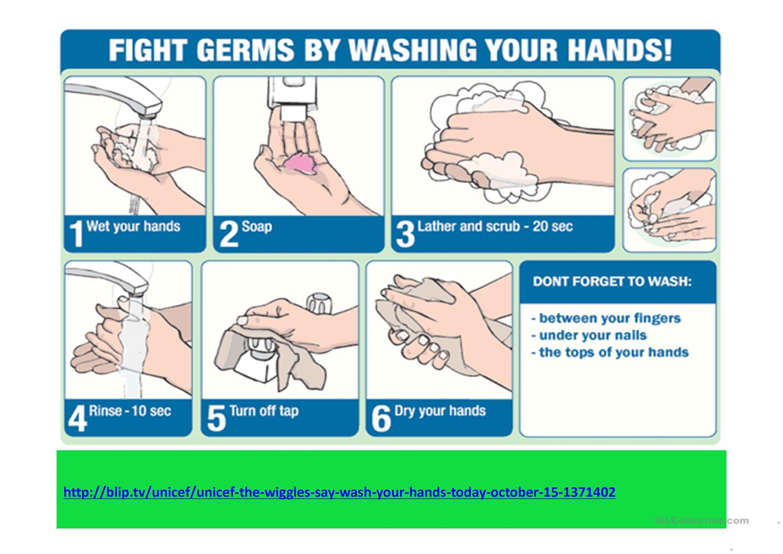 Prevent Germs Worksheet