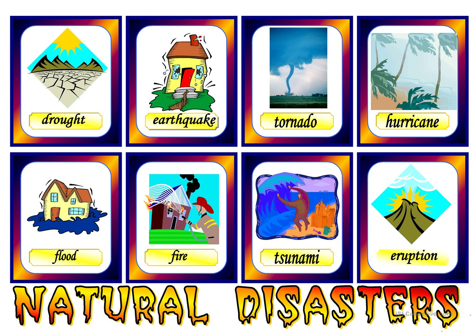 Natural Disaster Printable Worksheet