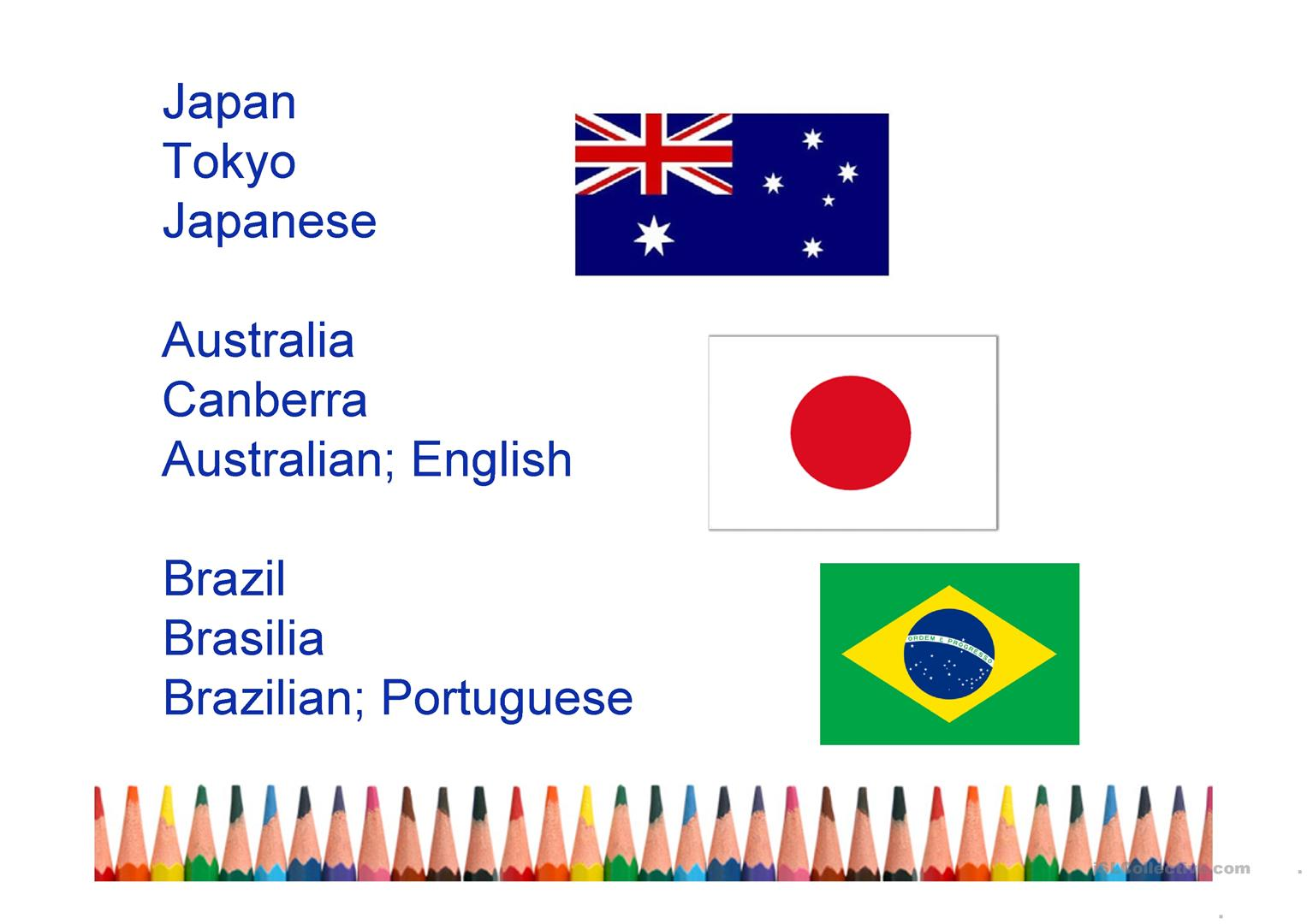Countries Nationalities Capital Cities