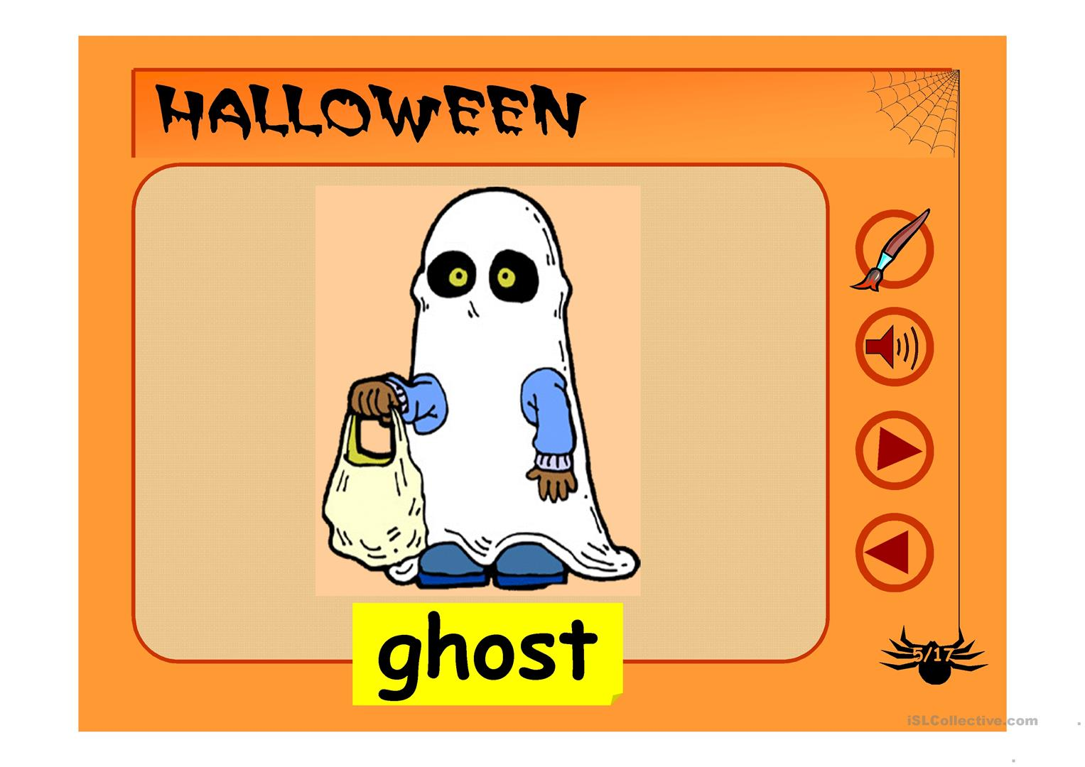 Halloween Vocabulary Worksheet