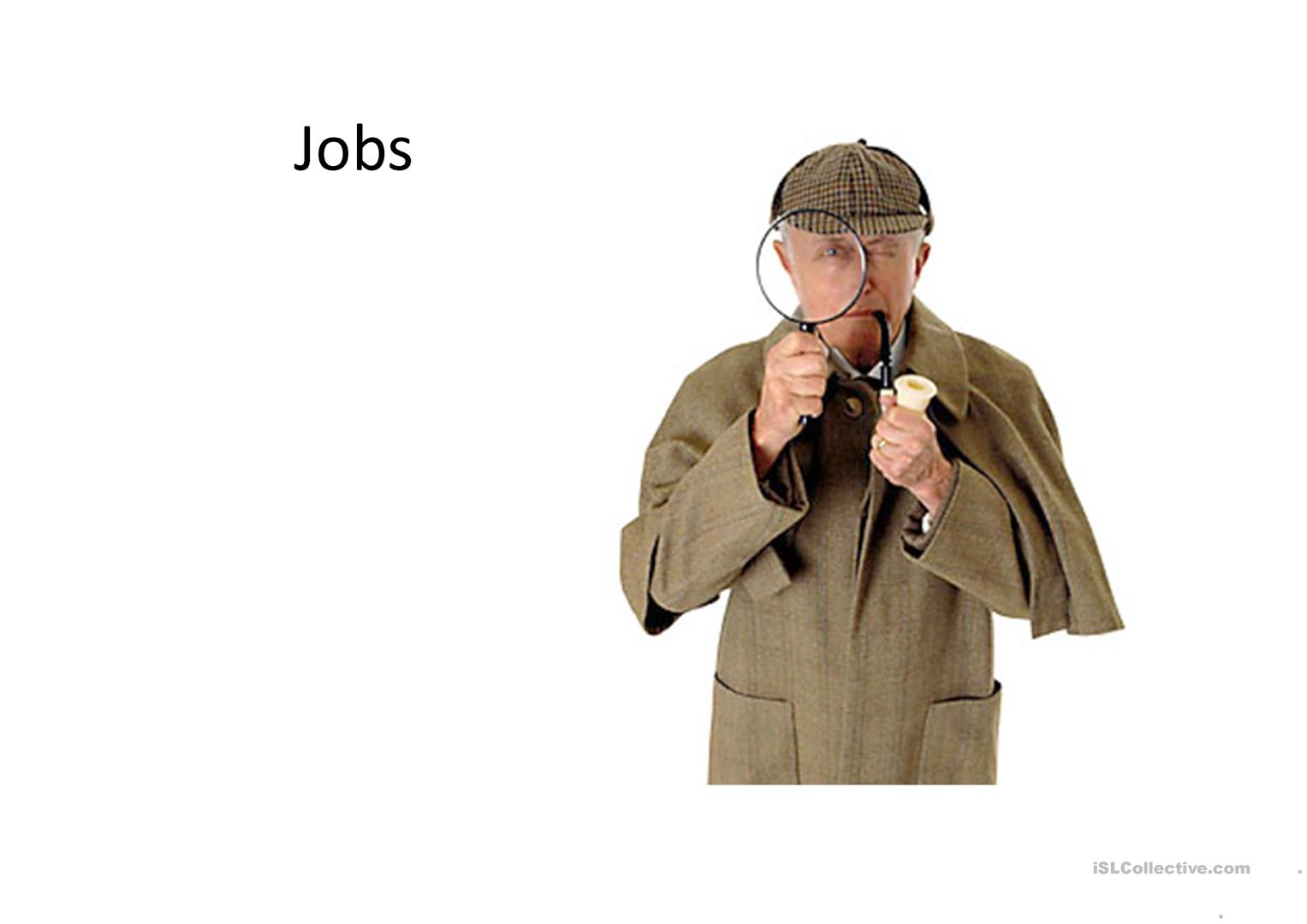 Jobs Without Captions Worksheet