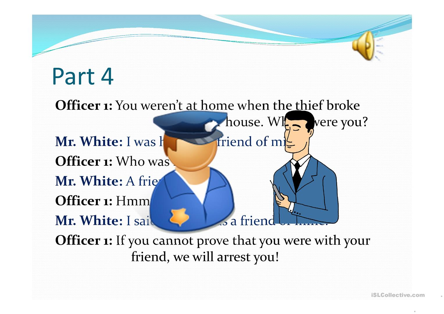 Who S The Thief Listening Activity Worksheet