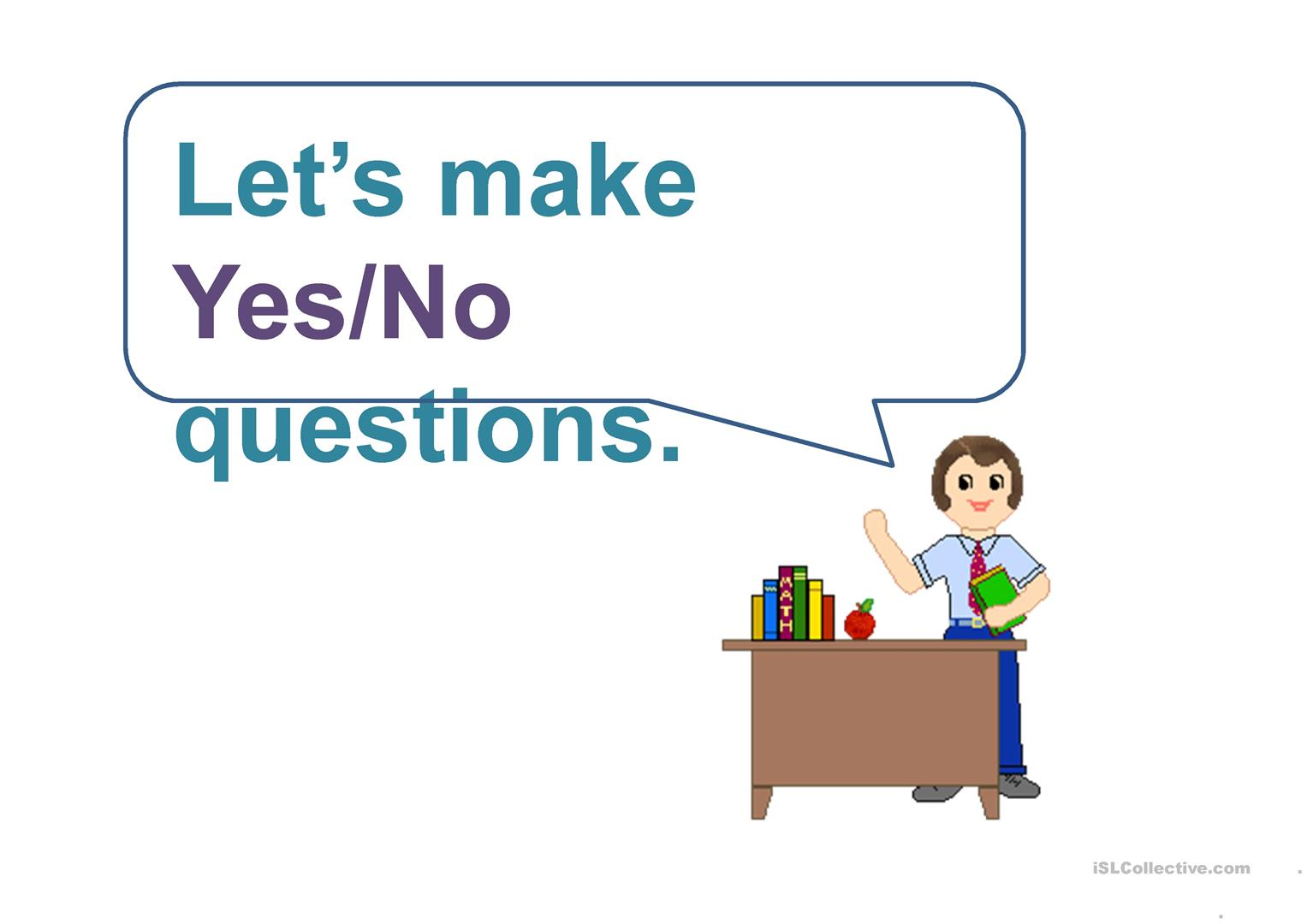 Ask And Answer Yes No Questions Worksheet