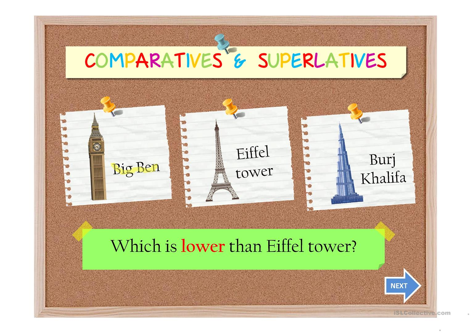 Comparatives And Superlatives Ii Worksheet