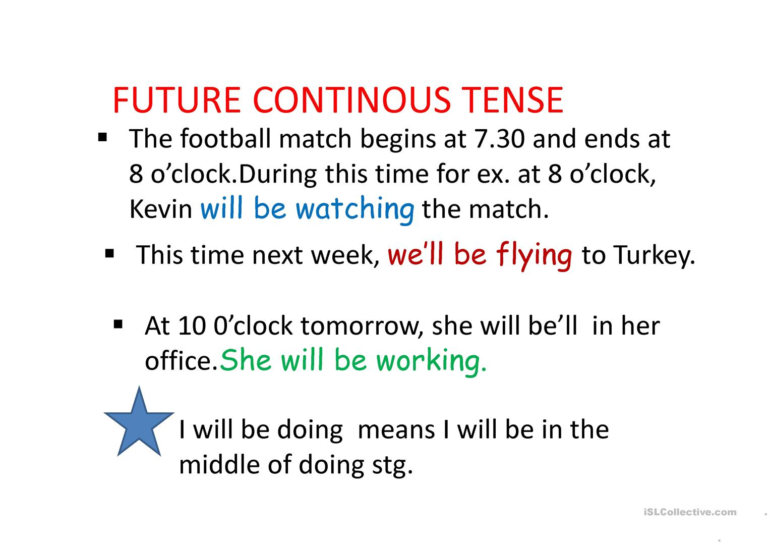 Future Continous And Perfect Tenses Worksheet