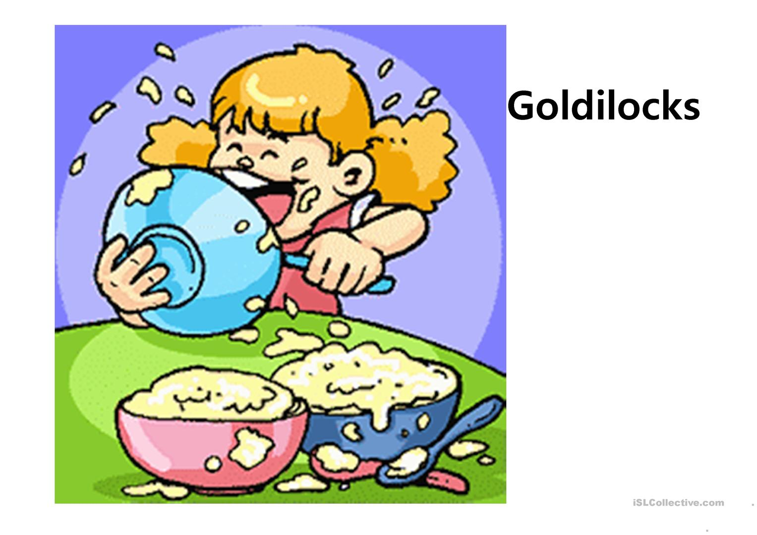Goldilocks And The Three Bears Worksheet