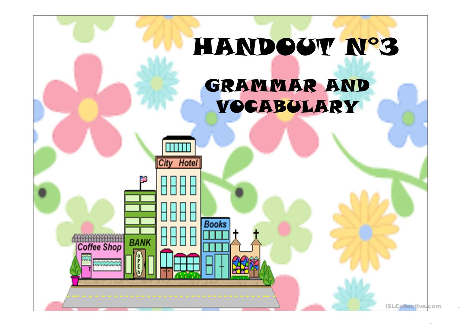 The City Vocabulary Prepositions Of Movement And Present