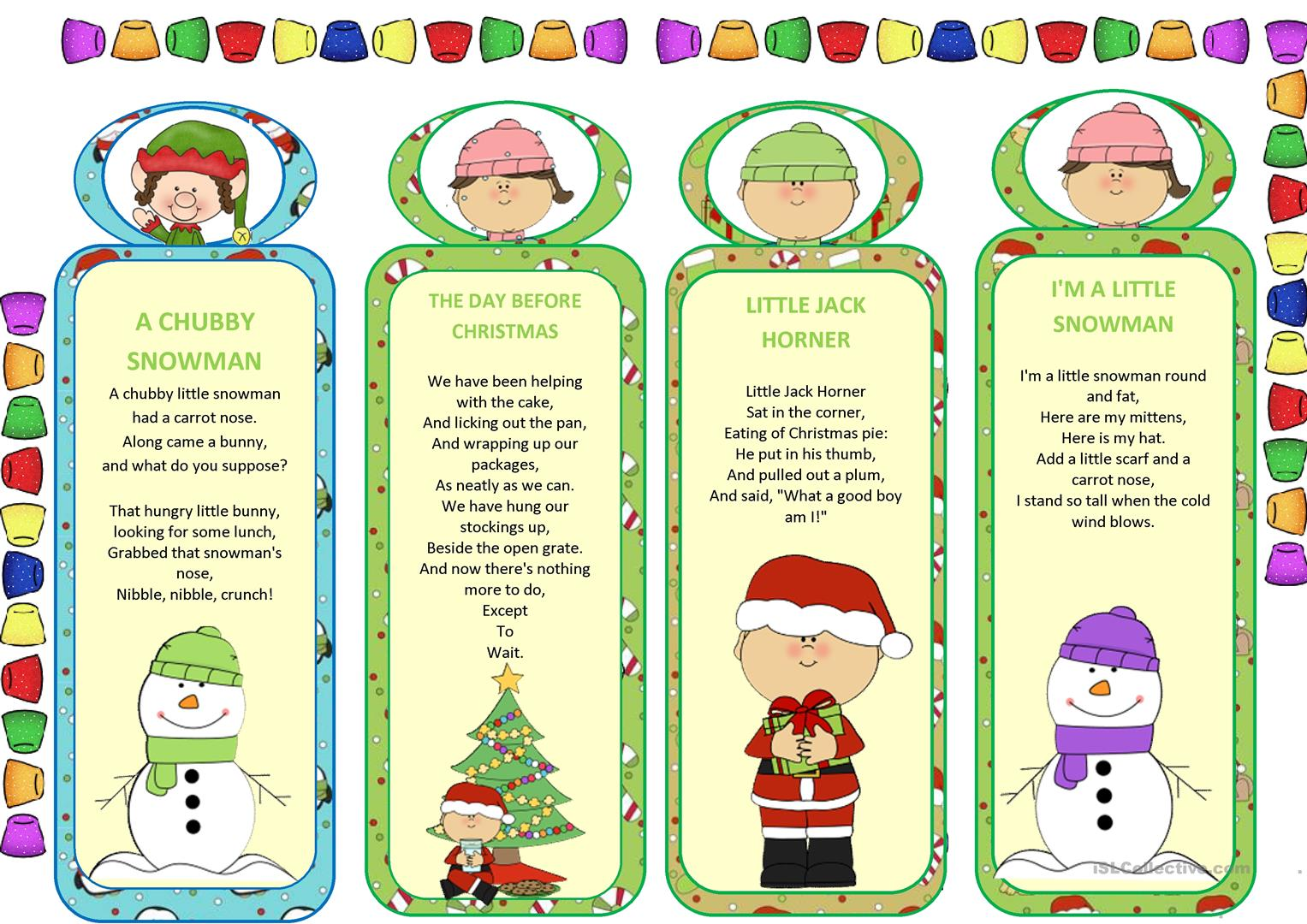 Bookmarks Worksheet