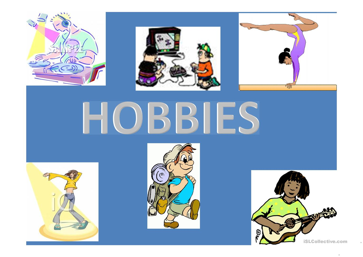 Hobbies Worksheet