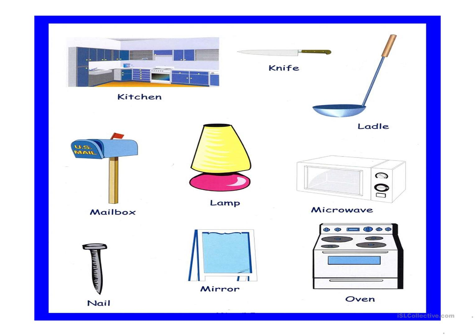 Household Objects Worksheet