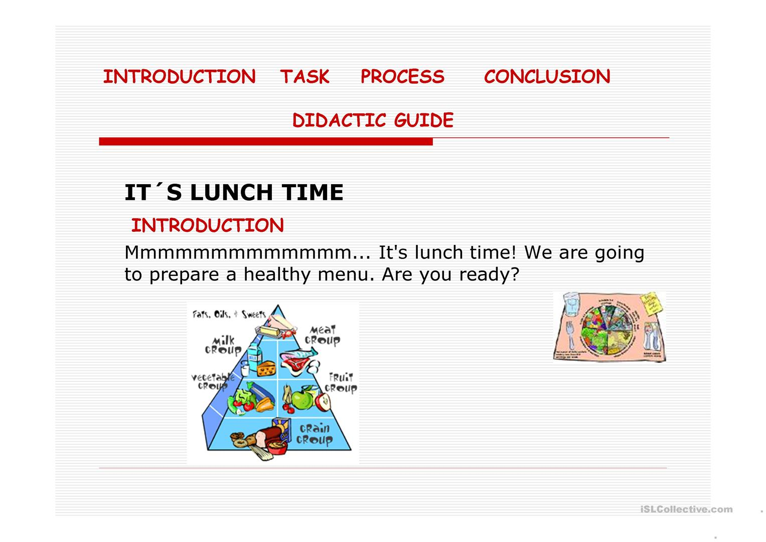 It S Lunch Time Worksheet