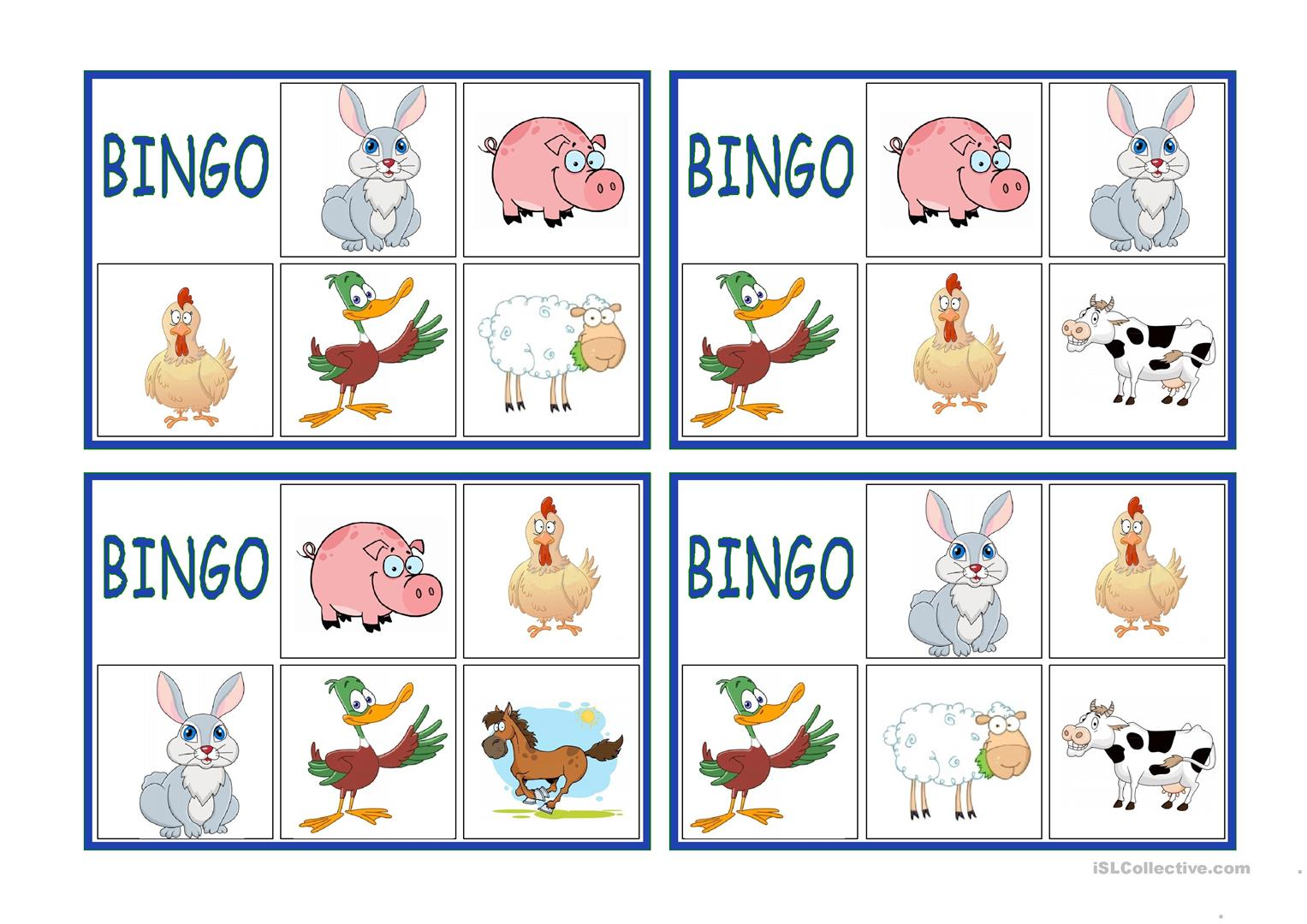 4th Worksheet About Farm Animals