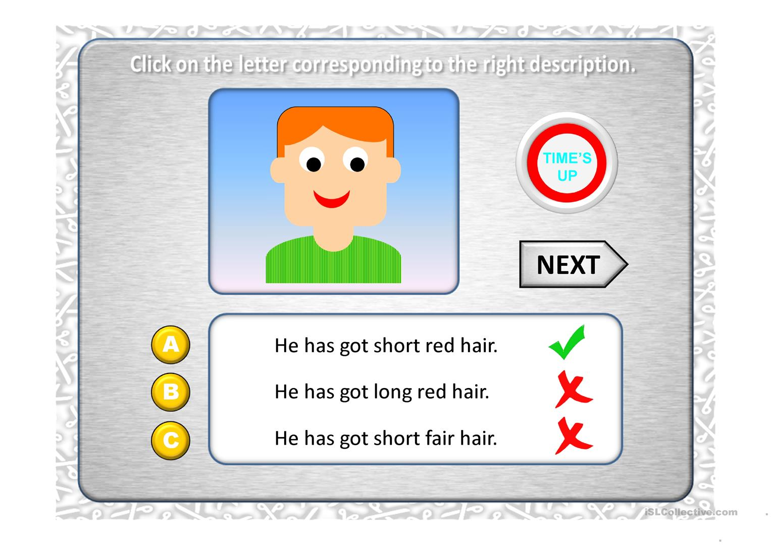 Hair Styles Quiz Worksheet